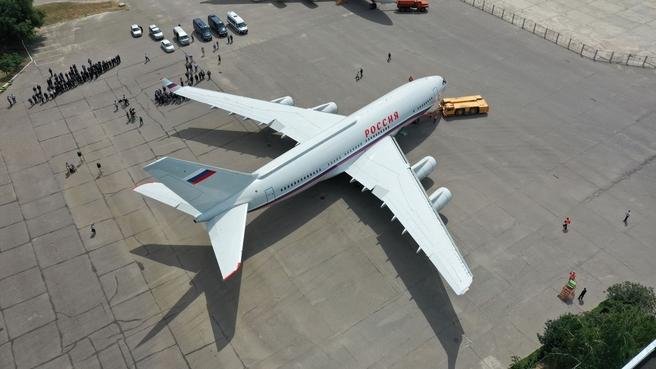Юрий Борисов присутствовал при передаче очередного Ил-96-300 на лётно-испытательную станцию