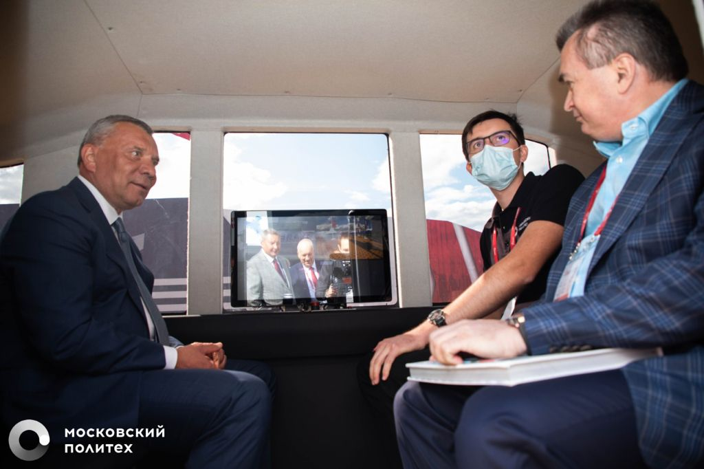 Московский Политех на VII Международном военно-техническом форуме «Армия-2021» презентовал экскурсионный автобус-беспилотник