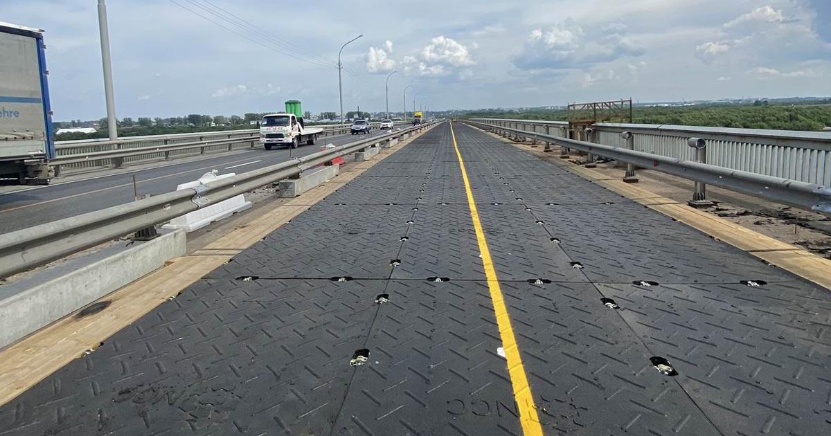 Временное дорожное покрытие Нанотехнологического центра композитов использовано при ремонте моста в Архангельске