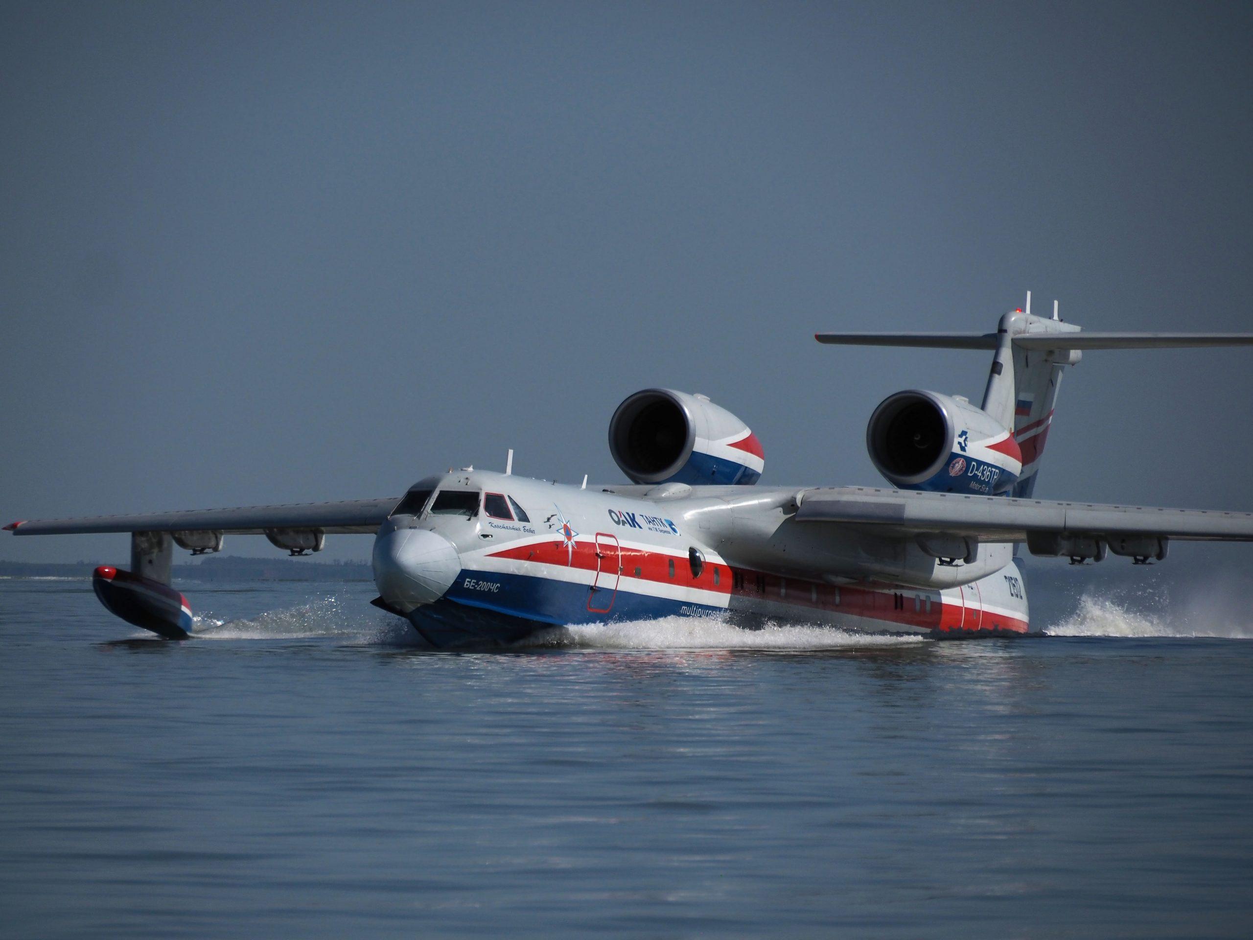 Бе-200ЧС успешно завершил тушение пожаров в Греции