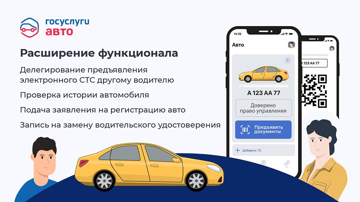 Расширен перечень доступных в приложении «Госуслуги Авто» сервисов